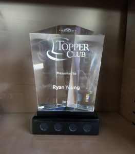farmers insurance toppers club award